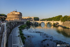 190705-163 Le Tibre (2019 Trip) (clamato39) Tags: olympus river rivière eau water pont bridge rome italie italy europe voyage trip ville city urban urbain