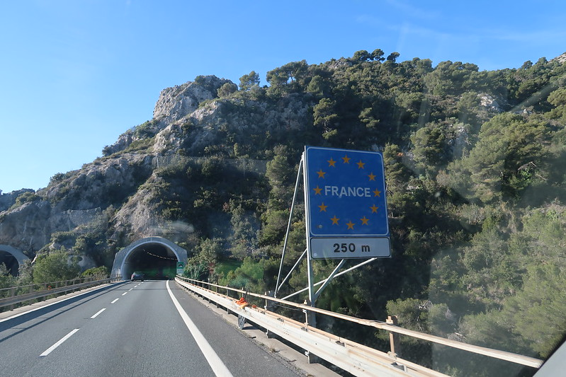 Driving the northern Italy to southern France.