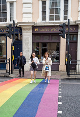 The Pride Crossing (daveseargeant) Tags: leica x greenwich london pride crossing mobile phone street colour typ 113