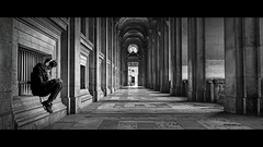 secluded (Nico Geerlings) Tags: ngimages nicogeerlings nicogeerlingsphotography paris museedulouvre museum architecture cinematic cinematography streetphotography leicammonochrom 50mm summilux