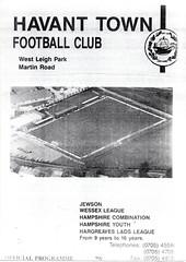 Havant Town v Portsmouth (Havant & Waterlooville) Tags: havant waterlooville portsmouth friendly football programme