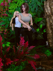 Bad Mood. (Blondeactionman) Tags: bamhq bamcomix one six scale dinosaur valley diorama action figure doll phicen poppy parker agent of bam savannah addams