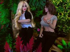 Lost Again! (Blondeactionman) Tags: bamhq bamcomix one six scale dinosaur valley diorama action figure doll phicen poppy parker agent of bam savannah addams