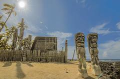 Tiki Gods for you? (LOURENḉO Photography) Tags: hawaiian tiki god protect your soul sun sky hawaii