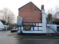 SHUN FAT - wise advice! (pefkosmad) Tags: shubnfat chinese takeaway fishchips bromyard herefordshire uk england greatbritain unitedkingdom funny sign shop food humour dayout daytrip shopping