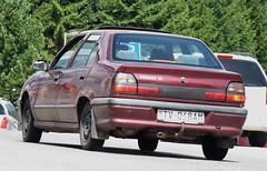 1994 Renault 19 Europa (FromKG) Tags: renault 19 europa red car štrbske pleso slovakia 2019