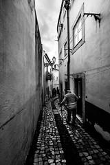 My oldest Day, Lisbon, Portugal (Davide Tarozzi) Tags: myoldestday lisbon portugal lisbona portogallo street via biancoenero blackandwhite anziano vecchiaia old
