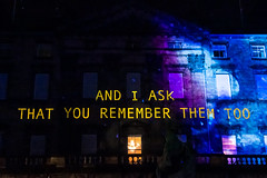 And I Ask That you Remember Them Too (margaretsdad) Tags: dctz200 lumix tz200 panasonic scotland edinburgh midlothian d7100 scottbarron night nightphotography street