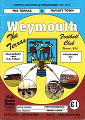 Weymouth v Havant Town (Havant & Waterlooville) Tags: havant waterlooville weymouth southern league football programme
