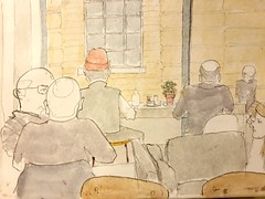 Coffee works 09-01-20 (Utopist) Tags: watercolour watercolor sketch coffe works cafe islington