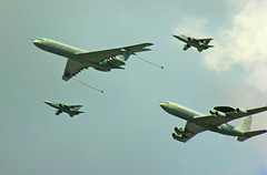 Two by two (crusader752) Tags: raf royalairforce vickers bac vc10 c1k xv106w no101squadron no23squadron boeing sentry aew1 zh10303 no43fightingcockssquadron panavia tornado f3 ze887gf ze764gl
