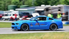 Blue Blazer (R.A. Killmer) Tags: mustang blue bright horsepower fast race racing cone conekiller central pa scca panning blur drive
