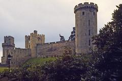 Warwick Castle (AntyDiluvian) Tags: england uk unitedkingdom vintage 1973 1970s castle warwickcastle tower battlements