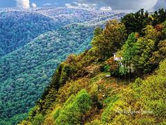 "An autumn scene (garofano_richard) Tags: northcarolina blueridgeparkway trees colors rocks mountain hills house dirt green ""northcarolina"" ""blueridgeparkwaync"" shrubs"