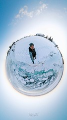 "Home Sweet Home (LionArt1970) Tags: 360 selfie shoreline winter canada snow ice water ""littleplanet"""