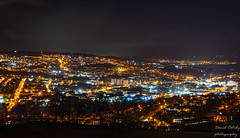 Here was this evenings view overlooking Keighley (Dave2638) Tags: yorkshire panorama landscape nightshoot jan2020 keighley