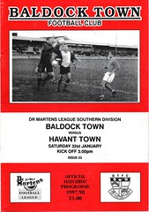 Baldock Town v Havant Town (Havant & Waterlooville) Tags: havant waterlooville baldock town southern league football programme