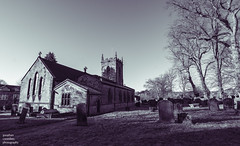 Eyam Church (jonathancoombes) Tags: eyam church village plague death bubonicplague blackandwhite derbyshire trees graves graveyard gravestone