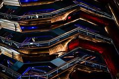 vessel (m_laRs_k) Tags: vessel z50mmf18s 50mm nikon nikkor usa nyc new york newyorkcity architexture architecture f18 prime festbrennweite manhattan hudsonyards reflection nifty 纽约 ньюйо́рк object highline red reflexion blue neon iso800 lr6 dngconverter offenblende handheld gold copper cobalt nacht night objekt assignment z6 mirrorless