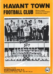 Havant Town v Portsmouth (Havant & Waterlooville) Tags: havant waterlooville portsmouth friendly football programme