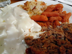 Cracker Barrel Sampler. (dccradio) Tags: lumberton nc northcarolina robesoncounty indoor indoors inside food eat supper dinner lunch meal meat vegetable meatloaf chickenanddumplings dumplings carrots babycarrots hashbrowncasserole friday evening fridayevening goodevening january samsung galaxy sma205u a20 cellphone cellphonepicture crackerbarrel restaurant