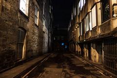 Edinburgh Dark Alley (margaretsdad) Tags: dctz200 lumix tz200 panasonic scotland edinburgh midlothian d7100 scottbarron night nightphotography street