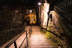 The News Steps (margaretsdad) Tags: dctz200 lumix tz200 panasonic scotland edinburgh midlothian d7100 scottbarron night nightphotography street