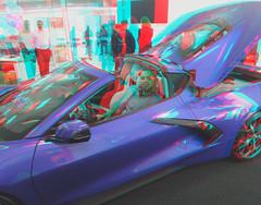 2020 C8 CORVETTE STINGRAY ON TOUR AT LAKESIDE CHEVROLET ROCKWALL TEXAS  3D RED CYAN ANAGYLPH-8 (REDFURD) Tags: 2020 c8 corvette stingray chevrolet 3d stereo redccyan anagylph