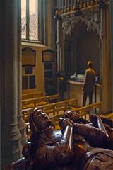 Effigies, Warwick Castle (AntyDiluvian) Tags: england uk unitedkingdom vintage 1973 1970s castle warwickcastle chapel effigy effigies