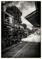 Skookum Steam Up (CDay DaytimeStudios w /1 Million views) Tags: cloudysky railroading landscape sunol steamengines railequipment nilesca locomotive hills california hillside nilescanyonrailroad