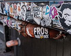 January 15 Wabisabi South Street (Larraine Leslie) Tags: urban stickers city