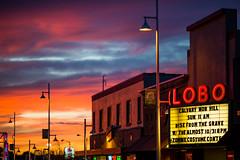 Albuquerque Sunsets (Thomas Hawk) Tags: albuquerque america lobo lobotheater newmexico route66 usa unitedstates unitedstatesofamerica neon sunset theater fav10 fav25 fav50 fav100