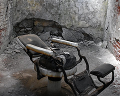 Black Barber Chair (fotophotow) Tags: easternstatepenitentiary philadelphia