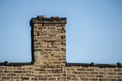 (jfre81) Tags: chicago avondale brick two flat building architecture wall apartment chimney minimalism sky blue 312 windy second city urban james fremont photography jfre81 canon rebel xs eos