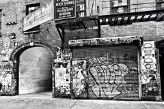 nyc (KidArkon) Tags: nyc graffiti tag art culture blackandwhite bw pentax pentaxk5 k5 k artgallery gallery chelsea ny lower westside manhattan experiment project