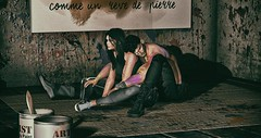 Paint War (Lotd. 455) (Mayelai Neisser) Tags: second life secondlife sl blog blogger spam couple pose sneakers native uber navajo dubai clothes fashion photograph