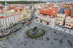 Prague Old City Square 1359 (RG Rutkay) Tags: cz danuberivercruise europe janhusmemorial oldtownsquare prague praguemeridian staroměstskénáměstí vacation travel architecture medieval plaza cityscape
