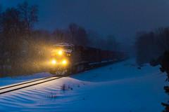 CP 8716 (shawn_christie1970) Tags: newhope minnesota unitedstatesofamerica snow blue train railroad cp8716 ge es44ac cppaynesvillesub