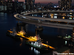 P1131147-HDR (et_dslr_photo) Tags: tokyo tokyonight tokyosunset tokyobay rainbowbridge odaiba shibaura