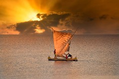 Mozambique Channel (Rod Waddington) Tags: africa afrique madagascar malagasy mozambique channel sailing boat sunset water indian ocean men fishermen clouds traditional culture cultural