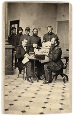 """""""Paying the 1st U.S. Infantry, New Orleans, Feb. 8, 1864"""" (Ron Coddington) Tags: cartedevisite civilwar bernardmoses neworleans louisiana jacob sallade paymaster us army 1 pennsylvania oncoming county henry torrence 1864"""