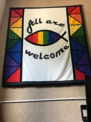 All Are Welcome (daryl_mitchell) Tags: regina saskatchewan canada summer 2019 church wesley united affirming lgbt banner rainbow