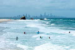 Boogies at Currumbin (armct) Tags: surf surfers beach boogie boards surfboards wave foam spray smoke bushfire surfersparadise downtown city tide ebb horizon skyline currumbinrock goldcoast queensland tourists holidaymakers summer sand crashing undertow