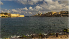 Valletta. (Ian Emerson (Thanks for all the comments and faves) Tags: malta capitalcity seascape landscape outdoor harbour canon beach winter sea architecture buildings light sunny january 2020 winterbreak canon6d
