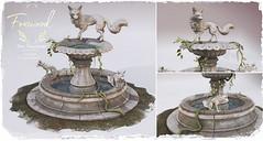 Foxwood - Saturday Sale - Fox Fountain (Dani @ Foxwood/Alchemy/Birdy/Foxes) Tags: secondlife screenshot foxwood saturday sale fountain mesh home decor garden fox