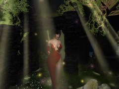 You Wanted To Talk To Me? (Cherie Langer) Tags: brunette gown club garden flowers fantasy singer moonlight