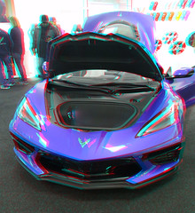 2020 C8 CORVETTE STINGRAY ON TOUR AT LAKESIDE  CHEVROLET  IN ROCKWALL TEXAS 3D REDCYAN ANAGYLPH-10 (REDFURD) Tags: 2020 c8 corvette chevrolet 3d stereo red cyan anagylph