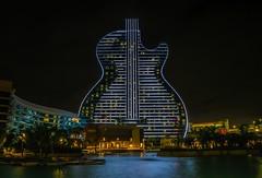 Hard Rock Holly - Guitar Hotel (Davidpaez27) Tags: lights florida miami guitar guitarhotel hardrock hardrockcasino nightshoot night longexposition