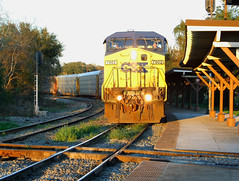 CSX at Ocala, 2008 (clarkfred33) Tags: csx autocarrier shed passengershed diamond railroaddiamond scene railroadscene ocala historic historicphoto 2008 csx7902 train freighttrain
