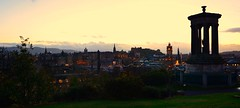 It's impossible to live in Edinburgh without sensing its literary heritage everywhere (Valantis Antoniades) Tags: calton hill edinburgh scotland uk architecture golden hour sunset view from above panorama